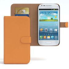 Tasche für Samsung Galaxy S3 Mini Case Wallet Schutz Hülle Cover Orange