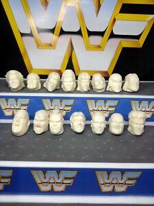 Wwf hasbro custom 15x heads Wrestling Figures. Wwf hasbro wwe