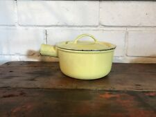"DESCOWARE Belgium Small Yellow #14 Sauce Pot W/ Lid - No Handle 5.5"" X 2.75"""