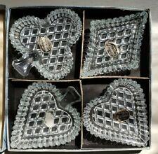 Vintage Bohemia Glass Club Spade Heart Diamond -Czechoslovakia- Salts - Trinkets