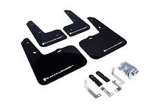 Rally Armor Mud Flaps Guards for 12-16 Veloster (Black w/White Logo)