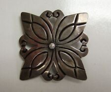 Vintage Taxco Mexican Sterling Silver Geometric Flower Brooch/Pin