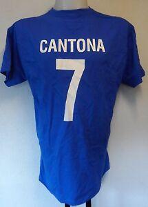 FRANCE RETRO ERIC CANTONA NUMBER 7 FOOTBALL TEE SHIRT MEN'S SIZE SMALL BRAND NEW