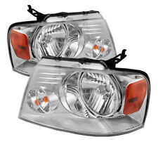 Ford 04-08 F150 Pickup Chrome Housing Replacment Headlights Pair Left + Right