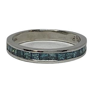 Sophia Fiori 14k White Gold .80ctw Blue Diamond Ladies Stackable Band Ring 8.5