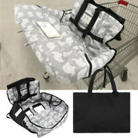 Baby Kids Shopping Trolley Cart Seat Pad High Chair Cover Printing Cushion+Bags