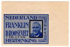 (I.B-CK) Netherlands Cinderella : Rocket Mail 3f (Rakentenvluchten) Roosevelt