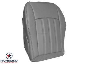 2006 2007 Chrysler 300 C V8 HEMI 300C-Driver Side Bottom Leather Seat Cover Gray