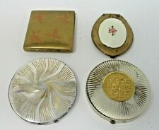 4 Vintage Powder Rouge Compacts Fifth Avenue-Elgin-Fifth Rex Avenue-Unknown