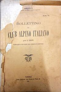 BOLLETTINO DEL CLUB ALPINO ITALIANO PER IL 1925 - NUM. 75