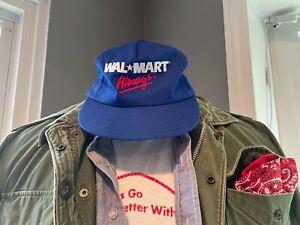 Vintage 90s Walmart Always Promo Snapback Mesh Trucker Hat BlueHipster