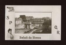Italy ROME Saluti da ROMA Used 1914 RP PPC