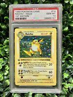 1999 Pokemon Base Set 1st Edition Shadowless Holo Raichu #14 PSA 10 GEM MINT