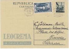 """Cartolina postale """"Leocrema"""" per estero"""