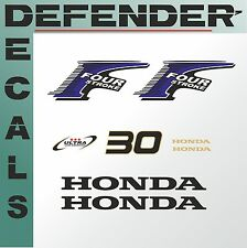 Honda 30 hp Four Stroke outboard engine decal sticker set kit reproduction 30HP
