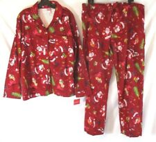 ddf5ae46190 Wondershop Women Santa Flannel Pajama Set Red 2XL Christmas Sleepwear CB61E