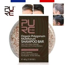 PURE™ | Shampooing Solide Hydratant 100% Naturel Anti-Cheveux Blancs, Pellicules