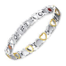 Titanium Heart Design Magnetic Health Bracelet for Women Pain Relief Arthritis