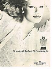 PUBLICITE ADVERTISING 044   1975    JEAN DESSES    sweaters parfums