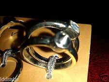 Stunning Pair of Diva Miss Selfridge Size Large Silver Stone Spike Rings BNWT