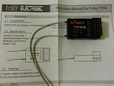 NEW FrSky Futaba FASST compatible micro receiver- TFR6 7 Channel