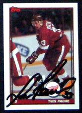 Yves Racine Detroit Red Wings 1991-92 Topps Signed Card