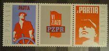 POLAND STAMPS MNH 2Fi1977+p+1978 Sc1852-53 Mi2130-31-6 Congress PZPR,1971,clean