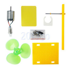 Micro Wind Turbines Generator Small DC Motor Blades W/Holder DIY Project Kit CG
