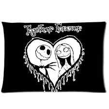 Custom Pillow Cover Nightmare Before Christmas Together Forever Pillowcase 20x30