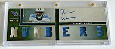 2012 Panini Playbook Rookie Playbook Jersey Auto #25 Kendall Wright #'d 27/99