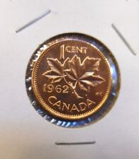 1962  Canada  Canadian Small  Cents  one cent  Penny Coin  BU Combined Shipping