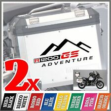 2x R1200GS black/red BMW ADVENTURE ADESIVI PEGATINA STICKERS MOTORRAD panniers