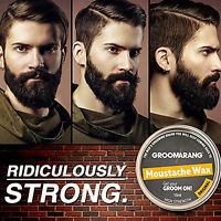 Groomarang Moustache Wax High Strength Best Grooming Shaping Styling Beard Care