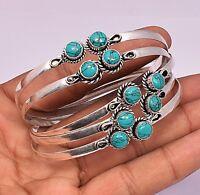 Turquoise 5pcs Wholesale Lots 925 Silver Overlay Cuff Bangle Bracelets