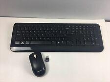 Microsoft Wireless Keyboard 800 and Wireless Mouse 1000 Black