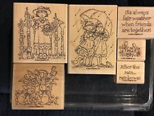 Stampin Up - FRIENDS -set of 6 rubber stamps 2 cute Girls 1 Asian Rare Retired