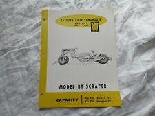 Wabco LeTourneau Bt scraper specification sheet brochure