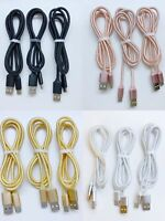 3-Pack Micro USB Charger Fast Charging Cable Cord For Samsung Android Phone