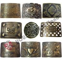HS Men's Scottish Kilt Belt Buckle Various Design Antique Thistle Buckles Celtic