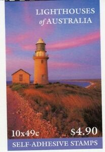 MINT 2002 LIGHTHOUSES OF AUSTRALIA p&S $4.90 - SELF ADHESIVE STAMPS