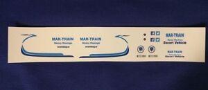 1:50 Scale Mar-Train Escort Van Clear Inkjet Waterslide Decals,Code 3