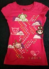 SKELANIMALS PINK T-SHIRT girls size M 7/8