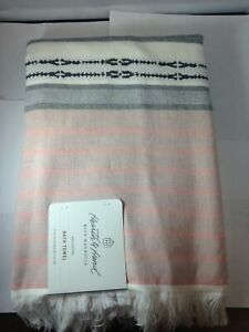 Engineered Ombre Border Bath Towel Copper/Gray - Hearth & Hand with Magnolia