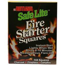 Fire Starter Squares Indoor Outdoor Campfire Barbecue Fireplace Wax Log 144 Pack