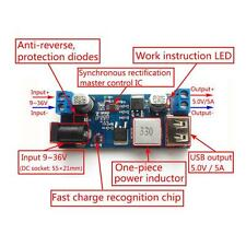 Practical DC-DC 24V /12V To 5V 5A Step-down Power Module With USB Fast Charging