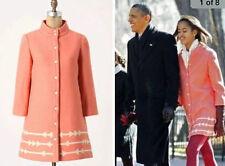 "$280 S Anthropologie Lauren Moffatt Pink ""Eastward Dress Coat"" Jacket SOLD OUT"