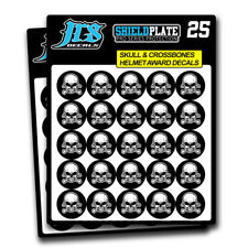 Helmet Award Stickers Football Helmet Decal Set of 50. 16 Mil Thick Skulls