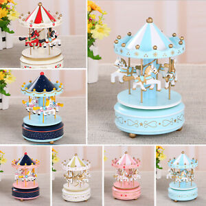 Merry-Go-Round Carousel Music Box for Kids Child Christmas Birthday  ABS + resin