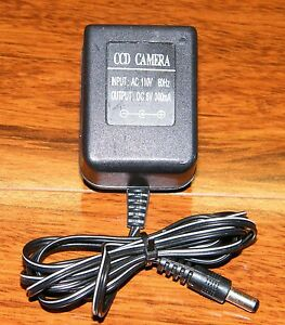Unbranded CCD Camera AC / DC Power Supply Input: 110 Volts 60 Hz Output: 6 Volts