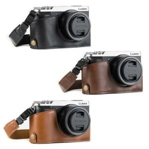 "MegaGear ""Ever Ready"" Leather Half Bottom Camera Case for Panasonic Lumix GX85"